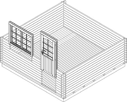 gartenhaus montage aufbau. Black Bedroom Furniture Sets. Home Design Ideas