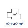30,1-40 m²