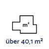 über 40,1 m²