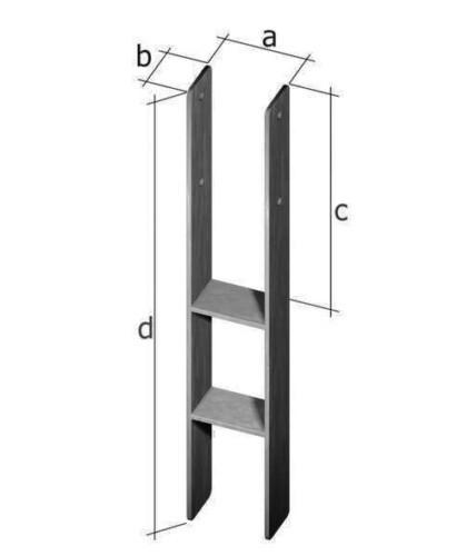 H-Pfostenträger 121 mm