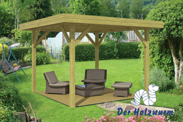 gartenpavillon modern mittelgross 115x115 mm ca 365x365 cm holzwurm obersayn. Black Bedroom Furniture Sets. Home Design Ideas