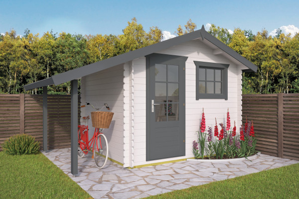Gartenhaus mit Schleppdach Marcel | 28 mm | ca. 420x260 cm ...