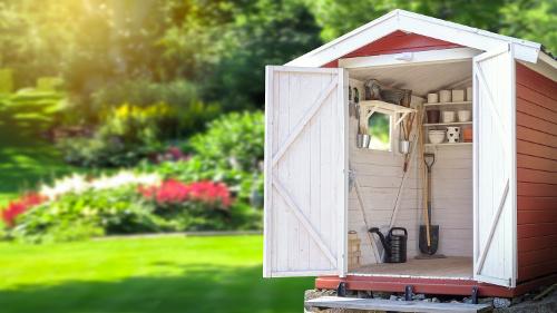 Gartenhaus als Gerätehaus