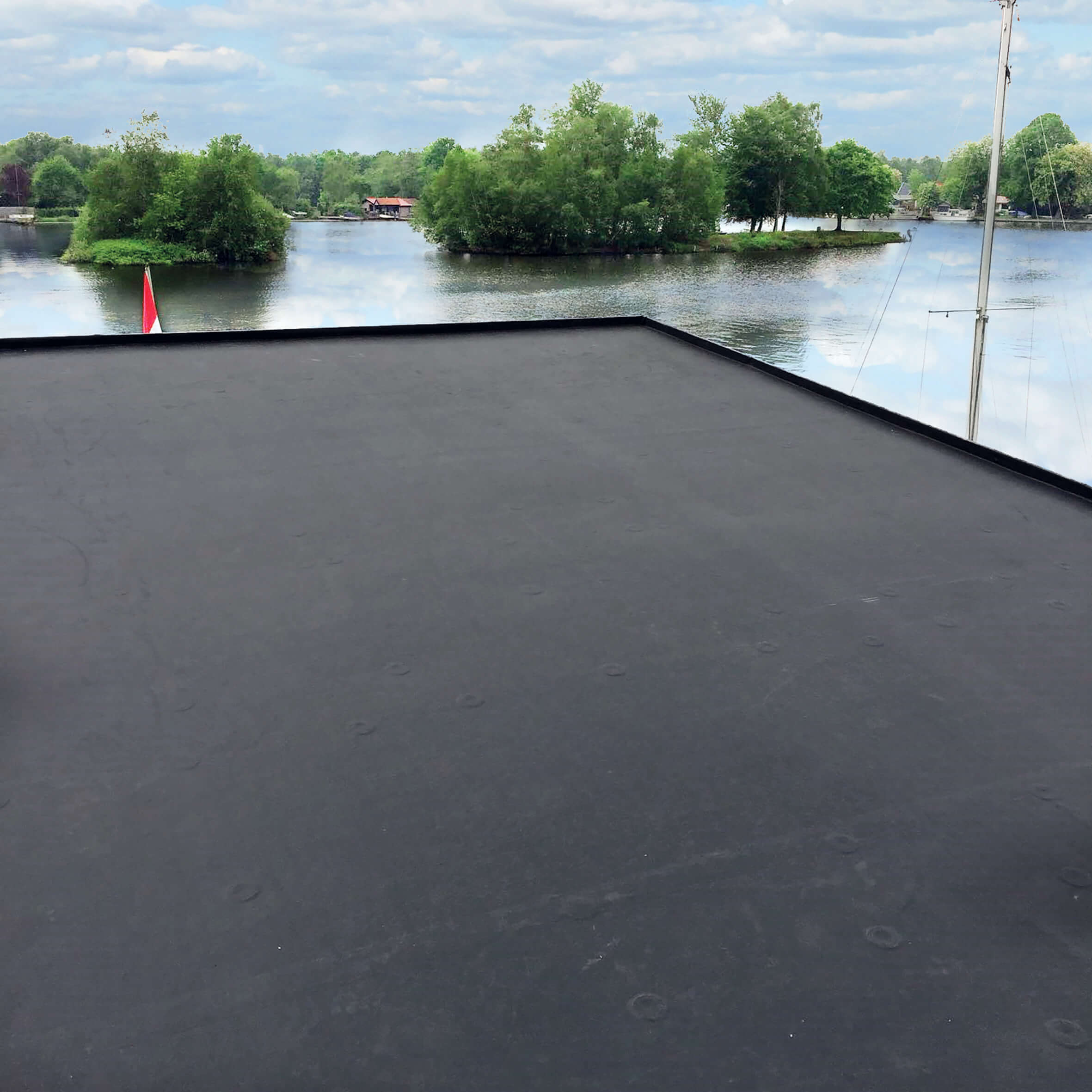 Gartenhaus Dacheindeckung mit EPDM-Folie