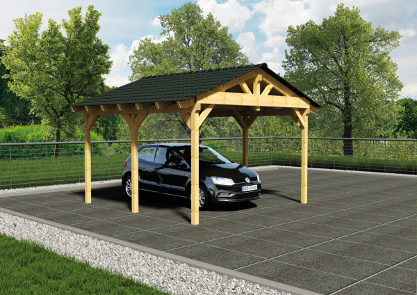 satteldach carport freistehend holzwurm obersayn. Black Bedroom Furniture Sets. Home Design Ideas