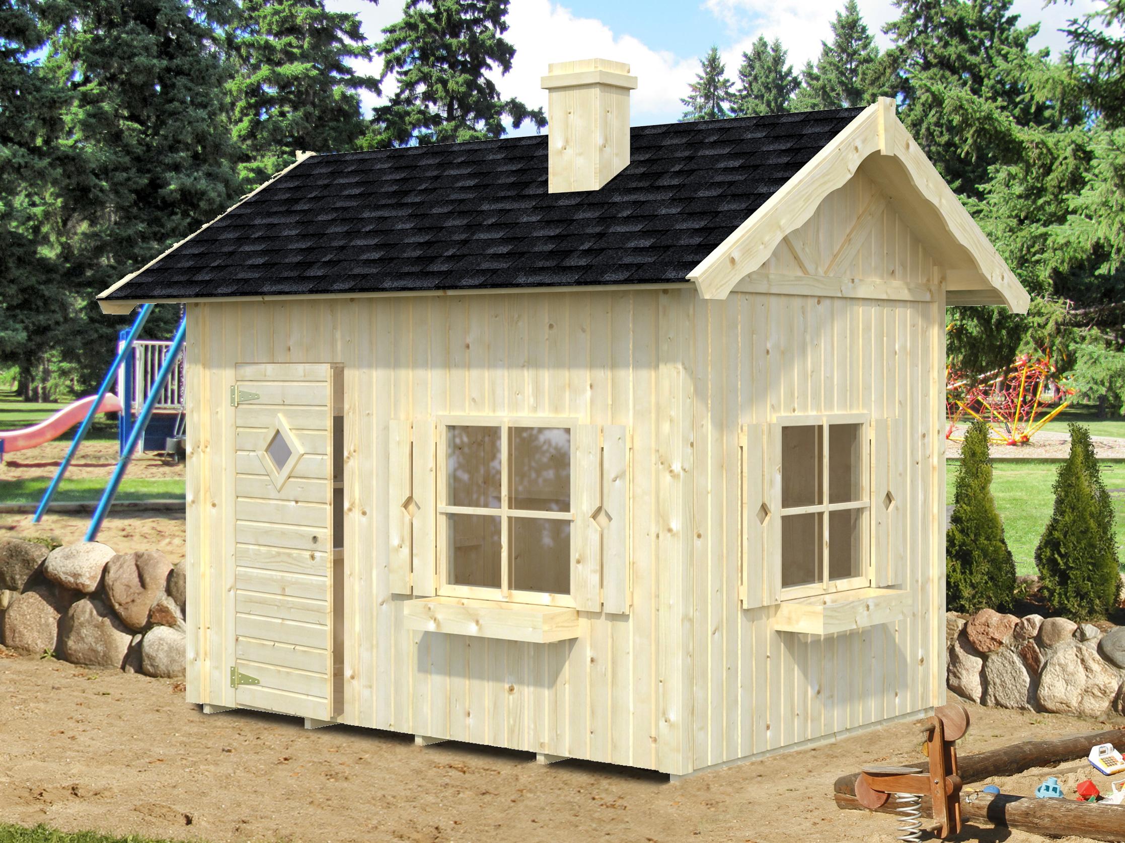 kinderspielhaus grete t v 16 mm ca 233x175 cm holzwurm obersayn. Black Bedroom Furniture Sets. Home Design Ideas