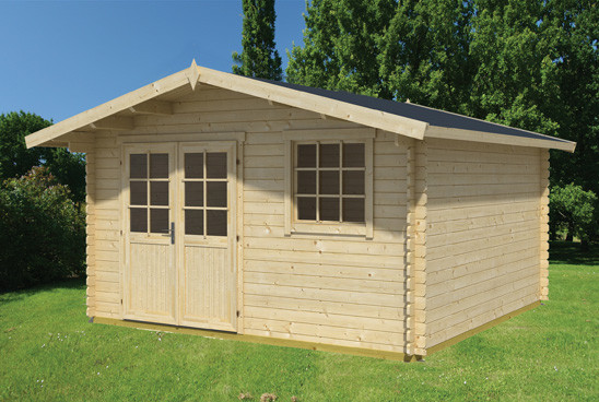 gartenhaus cyprus 4e 28 mm ca 410 x 320 cm holzwurm obersayn. Black Bedroom Furniture Sets. Home Design Ideas