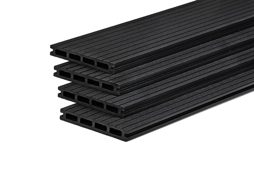 wpc terrassendiele anthrazit hohlkammerdiele 150 mm breit holzwurm obersayn. Black Bedroom Furniture Sets. Home Design Ideas