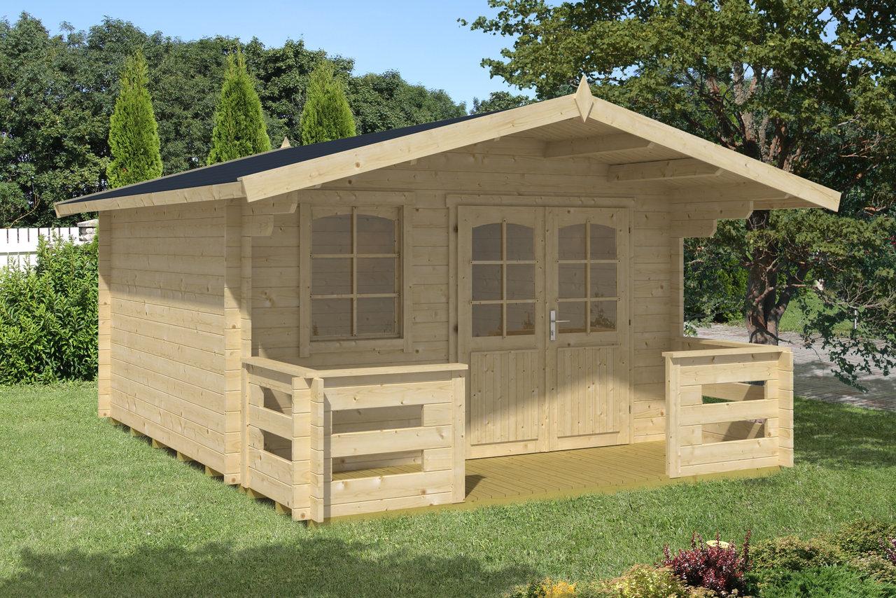 gartenhaus sauerland 1 3 34 mm ca 380x320 cm terrasse holzwurm obersayn. Black Bedroom Furniture Sets. Home Design Ideas