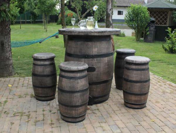 Gartenmöbel-Set Weinfass