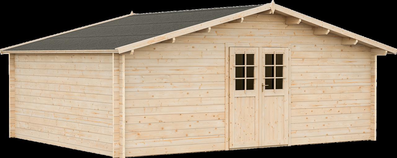 gartenhaus porto 8 34 mm ca 570x470 cm holzwurm obersayn. Black Bedroom Furniture Sets. Home Design Ideas