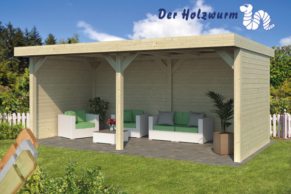 gartenhaus alfsu 28 mm ca 598x300 cm holzwurm obersayn. Black Bedroom Furniture Sets. Home Design Ideas