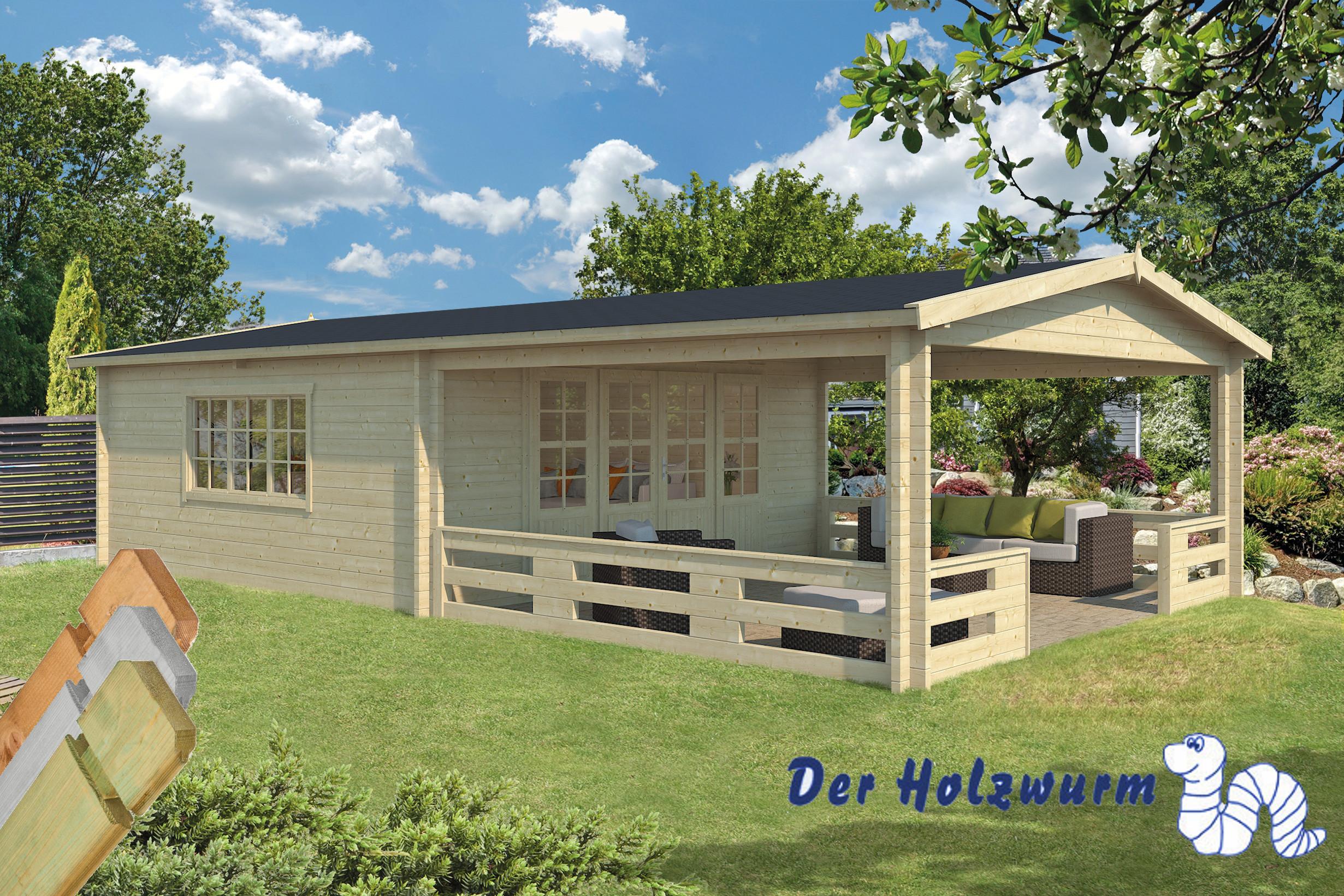 gartenhaus sheffield 58 mm ca 540x963 cm holzwurm obersayn. Black Bedroom Furniture Sets. Home Design Ideas