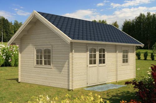 Gartenhaus-mit-Satteldach
