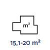 15,1-20 m²