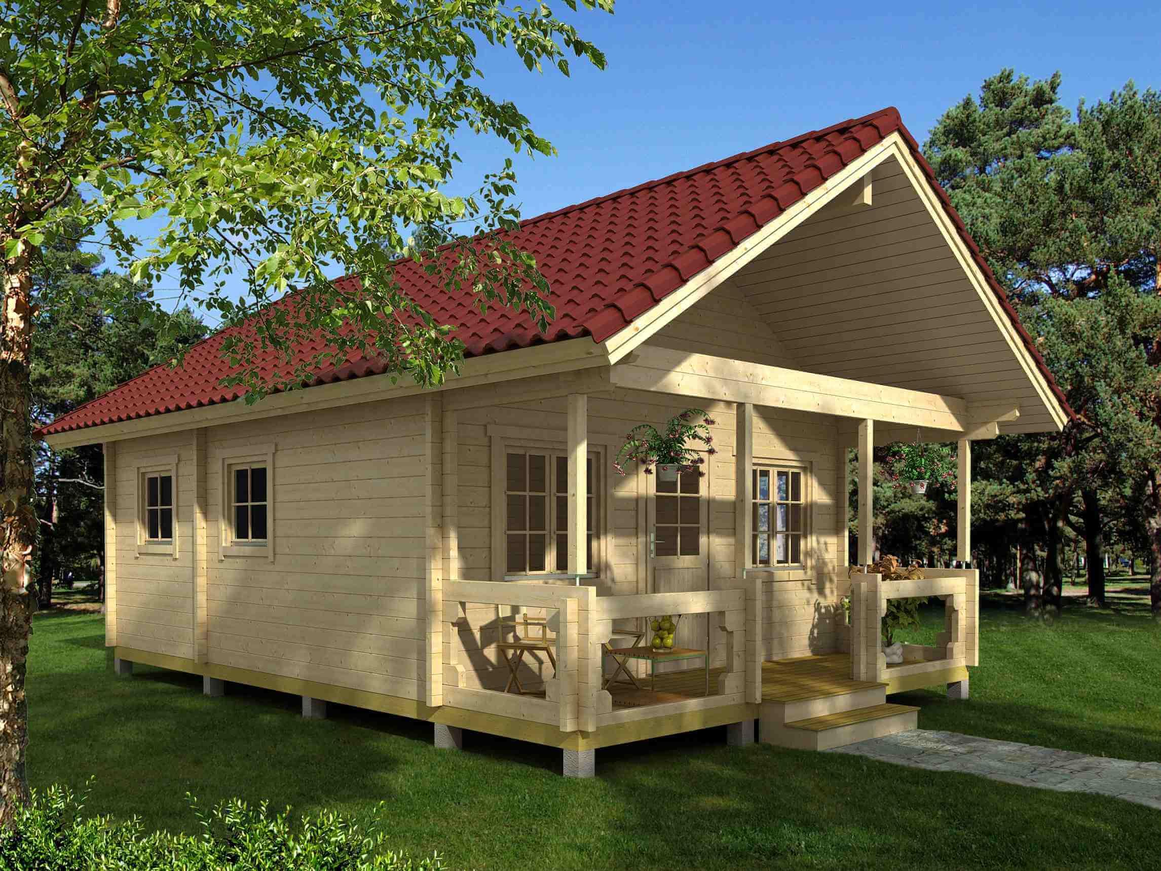 Gartenhaus Dacheindeckung mit Dachpfannen