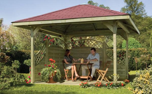 Gartenpavillon Delta 4-eck