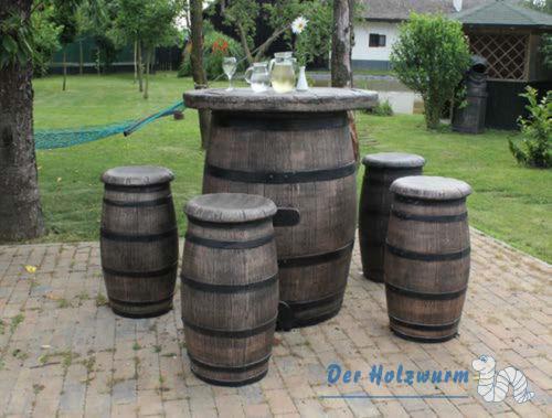 Gartenmöbel Set Weinfässer Big