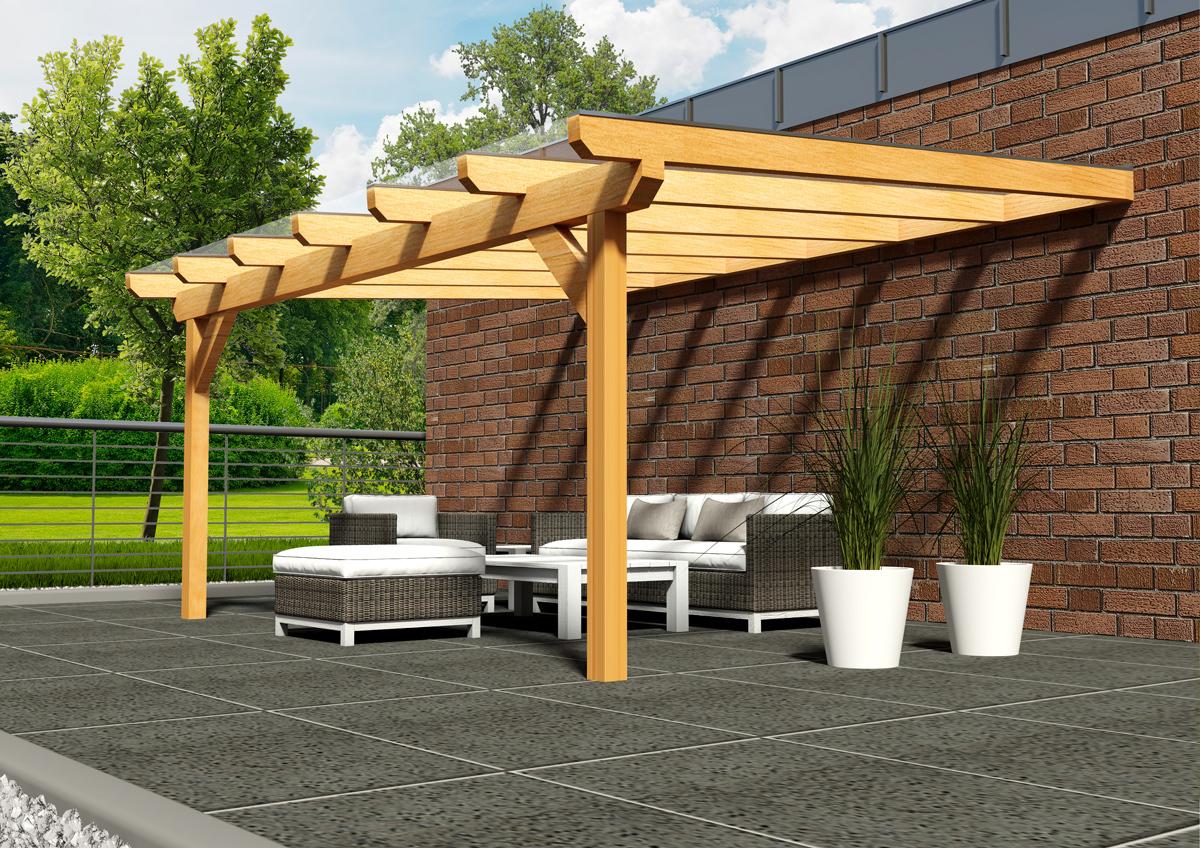terrassen berdachung mit sicherheitsglas holzwurm obersayn. Black Bedroom Furniture Sets. Home Design Ideas