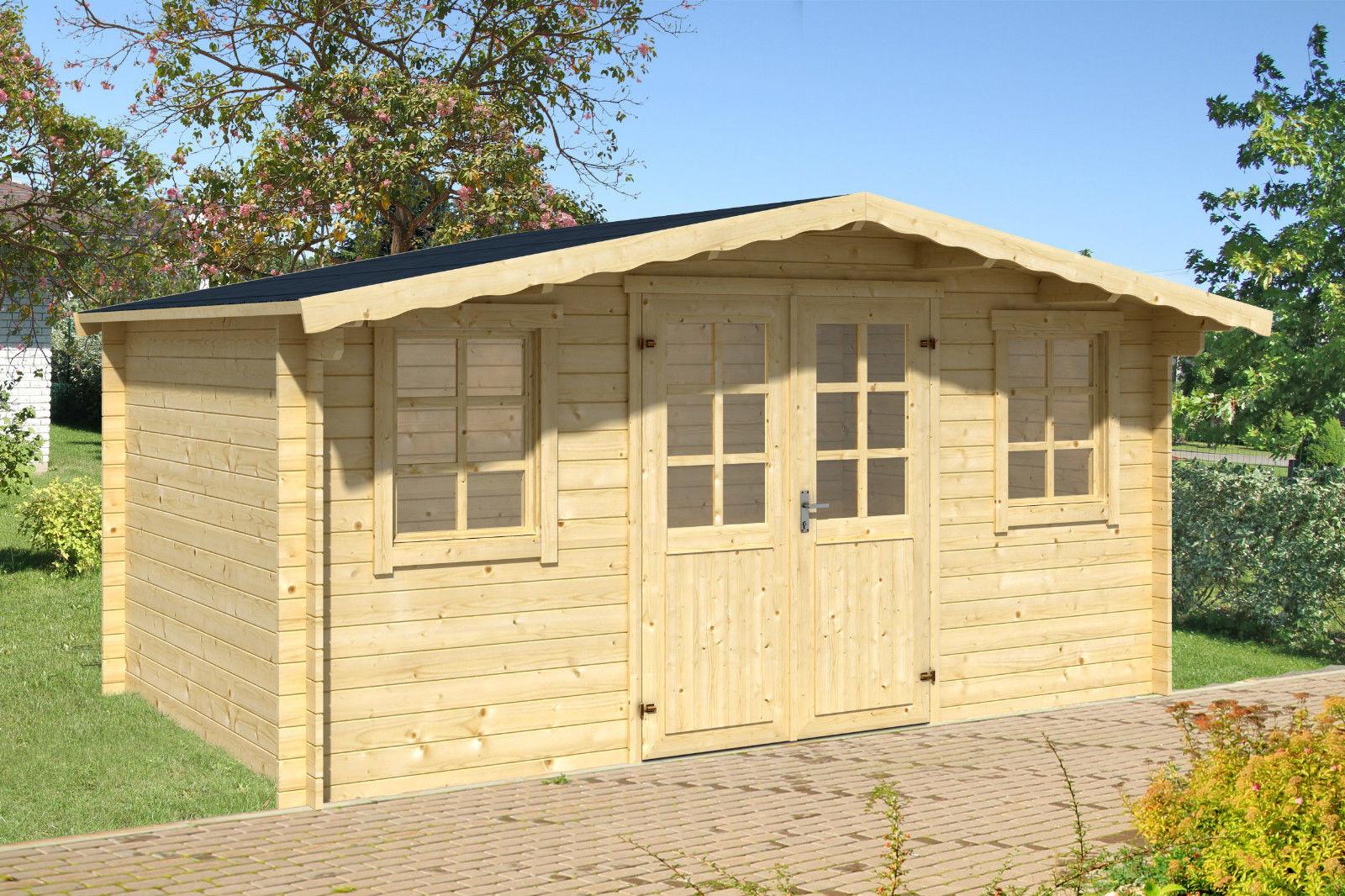gartenhaus erfurt 8 34 mm ca 500x400 cm holzwurm obersayn. Black Bedroom Furniture Sets. Home Design Ideas