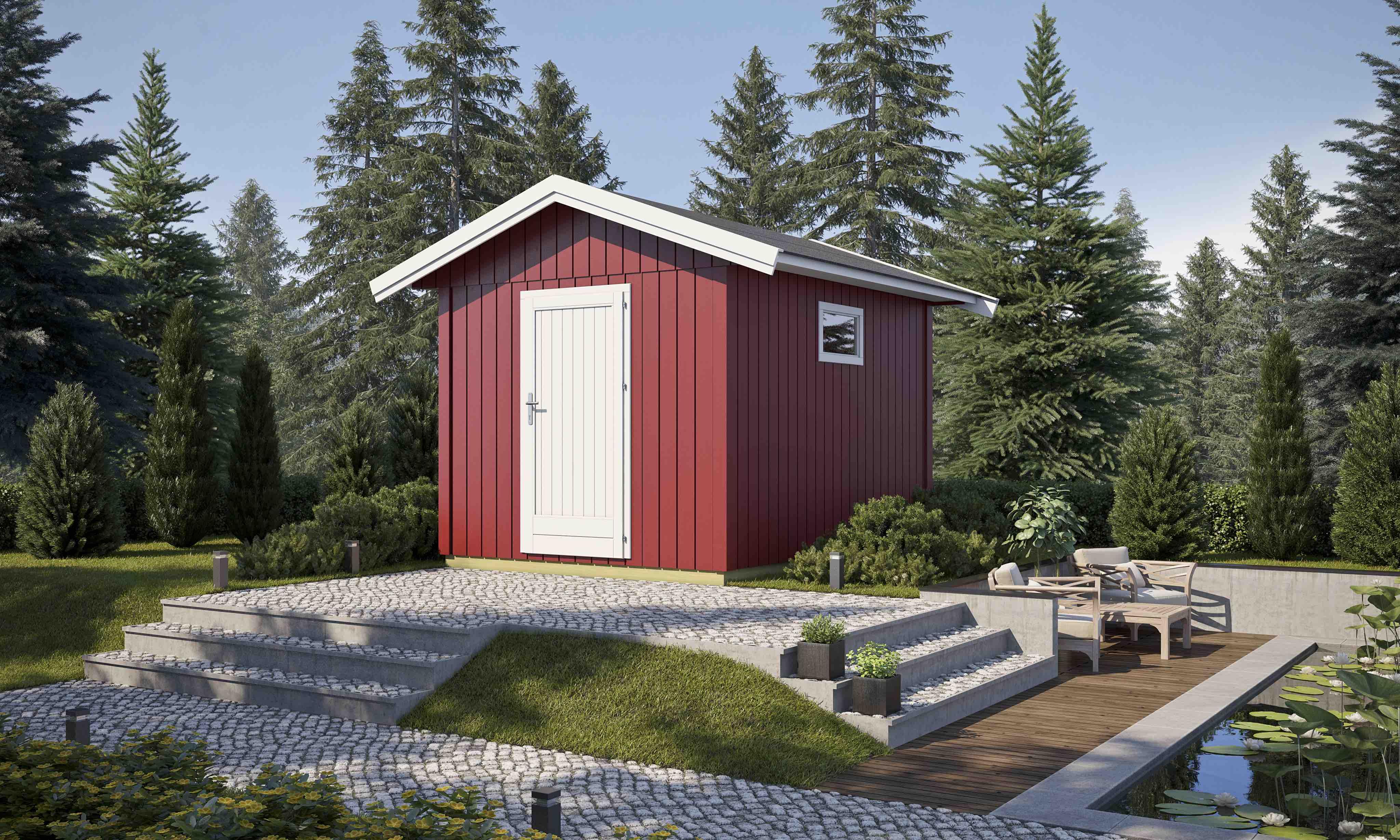 Gartenhaus Nordic 8 Elementhaus 238x334 Cm Gerätehaus Holzhaus