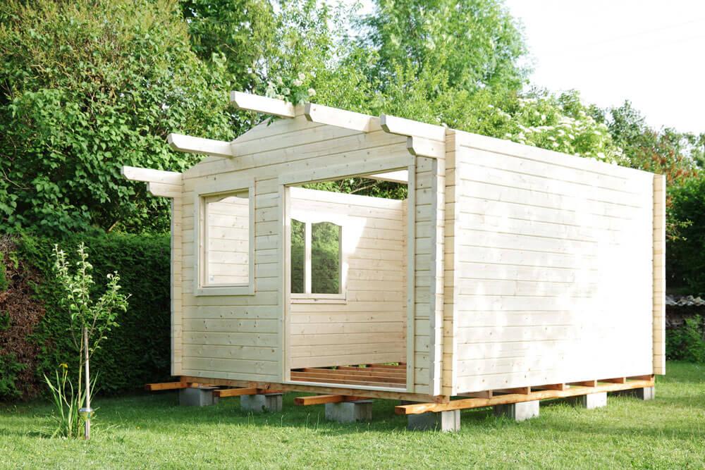 Gartenhaus Fundament selbst bauen