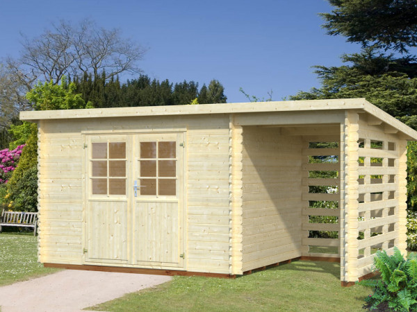 Gartenhaus Lyon 2.1 | 28 mm | ca. 490x300 cm | Holzwurm Obersayn