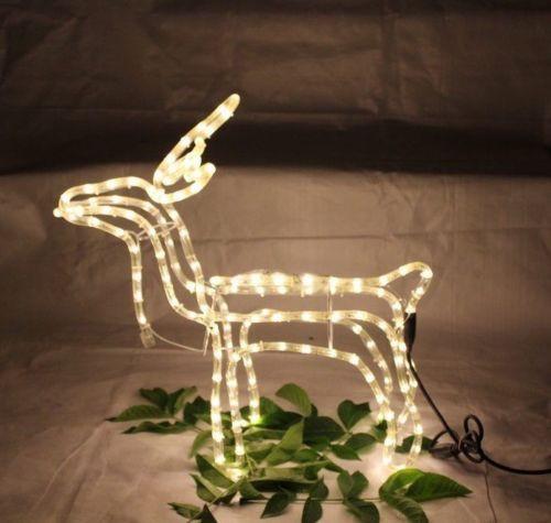 3D Lichtschlauchfigur Rentier - Steht