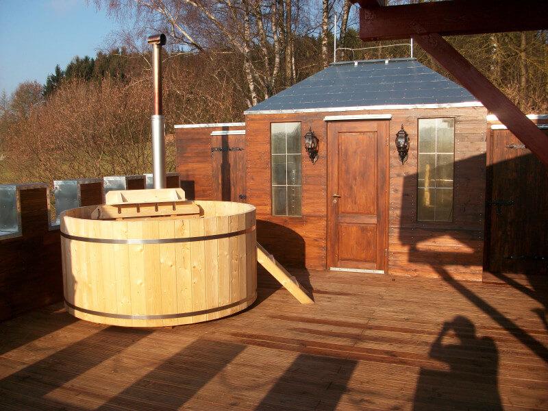 Gartenhaus Dacheindeckung mit Blechdach
