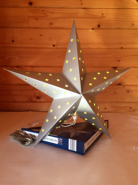 LED Weihnachtsstern - Silber