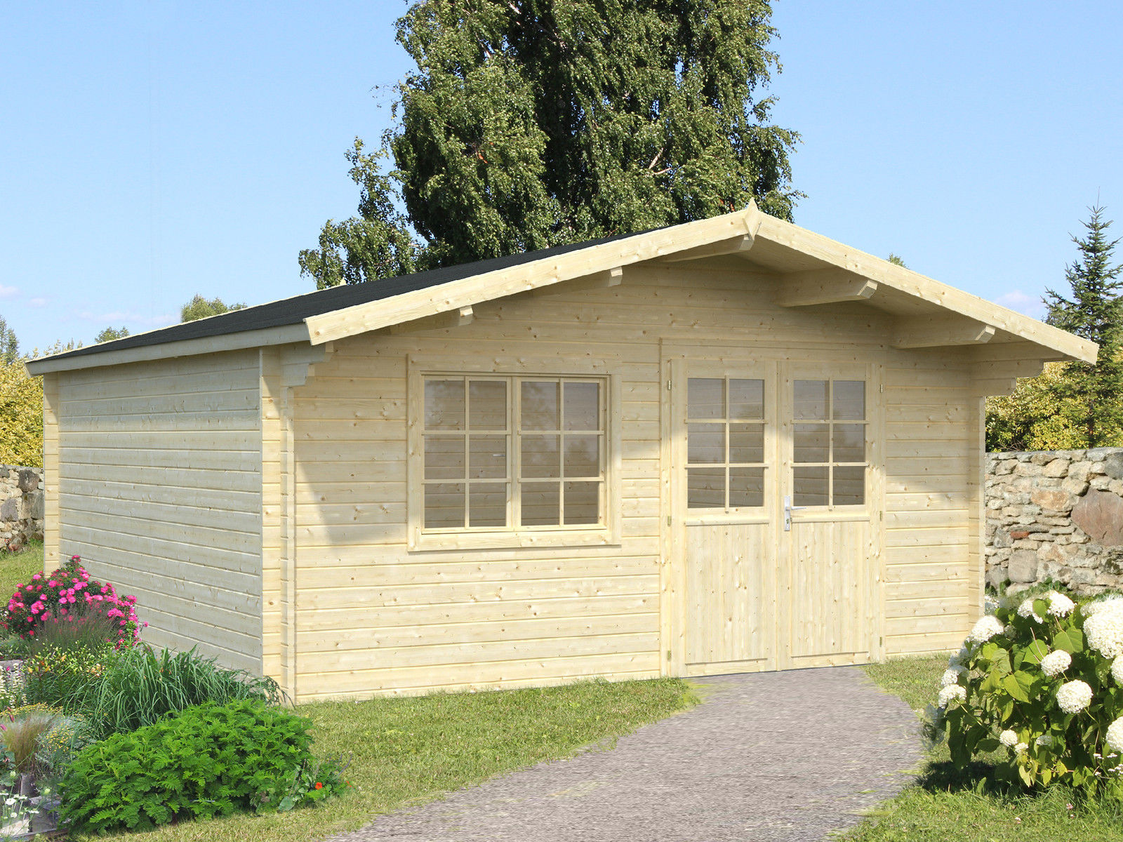 gartenhaus maria 4 40mm cm holzwurm obersayn. Black Bedroom Furniture Sets. Home Design Ideas