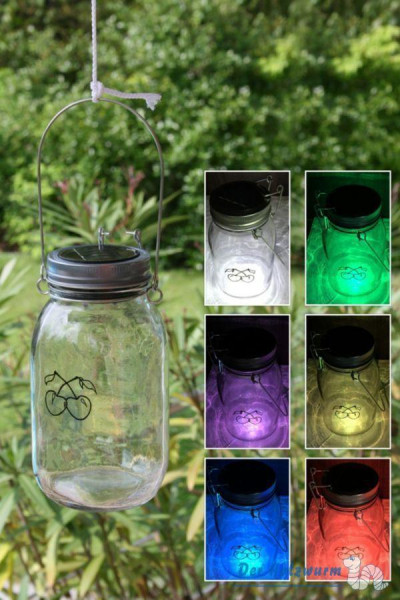 Solarleuchte im Glas