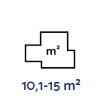 10,1-15 m²