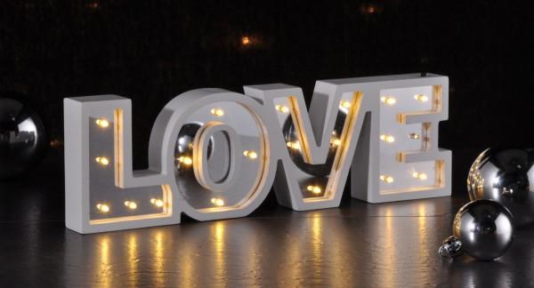 LED Deko-Schriftzug Love