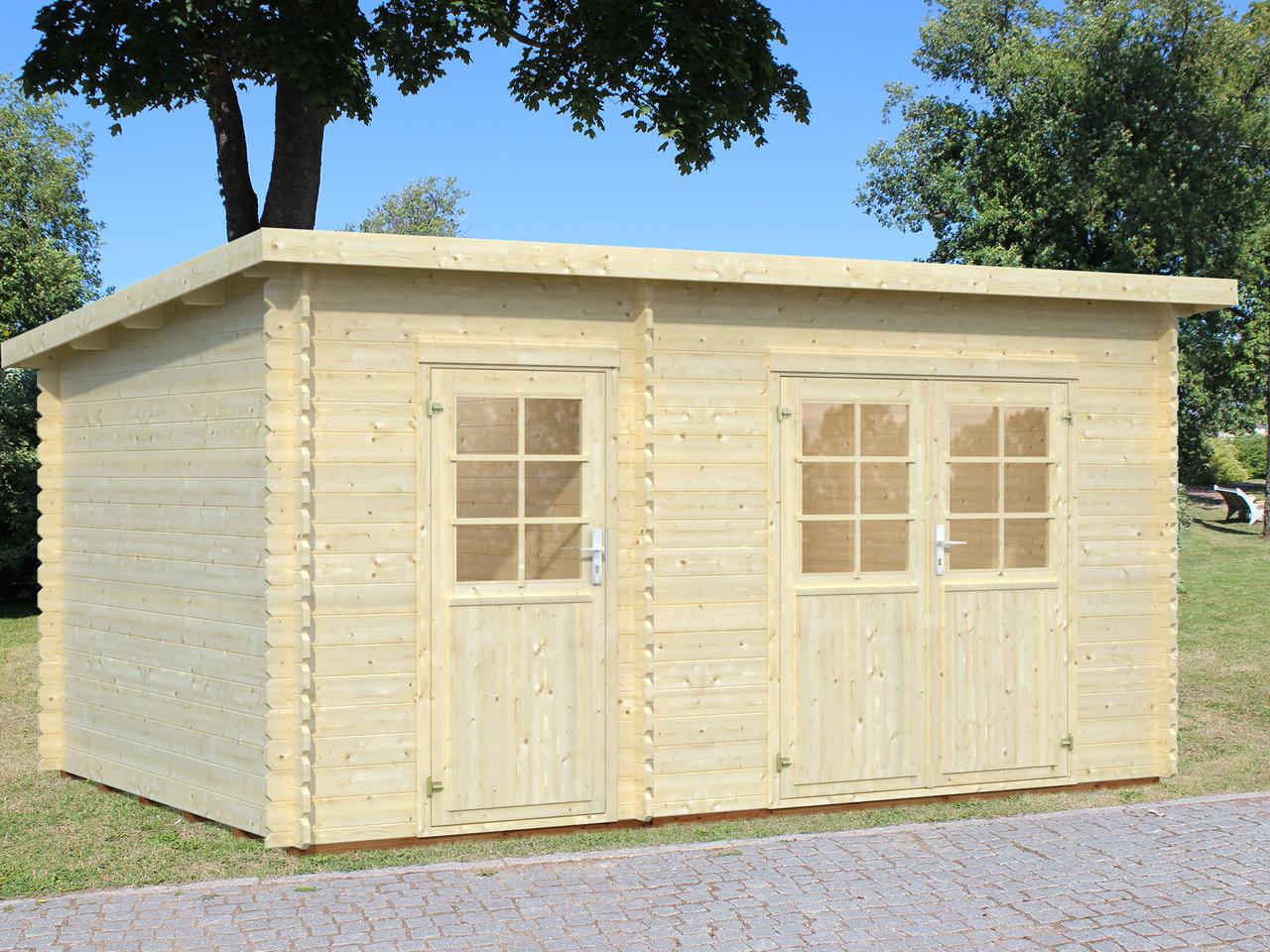 gartenhaus fulda 28 mm ca 450x300cm holzwurm obersayn. Black Bedroom Furniture Sets. Home Design Ideas
