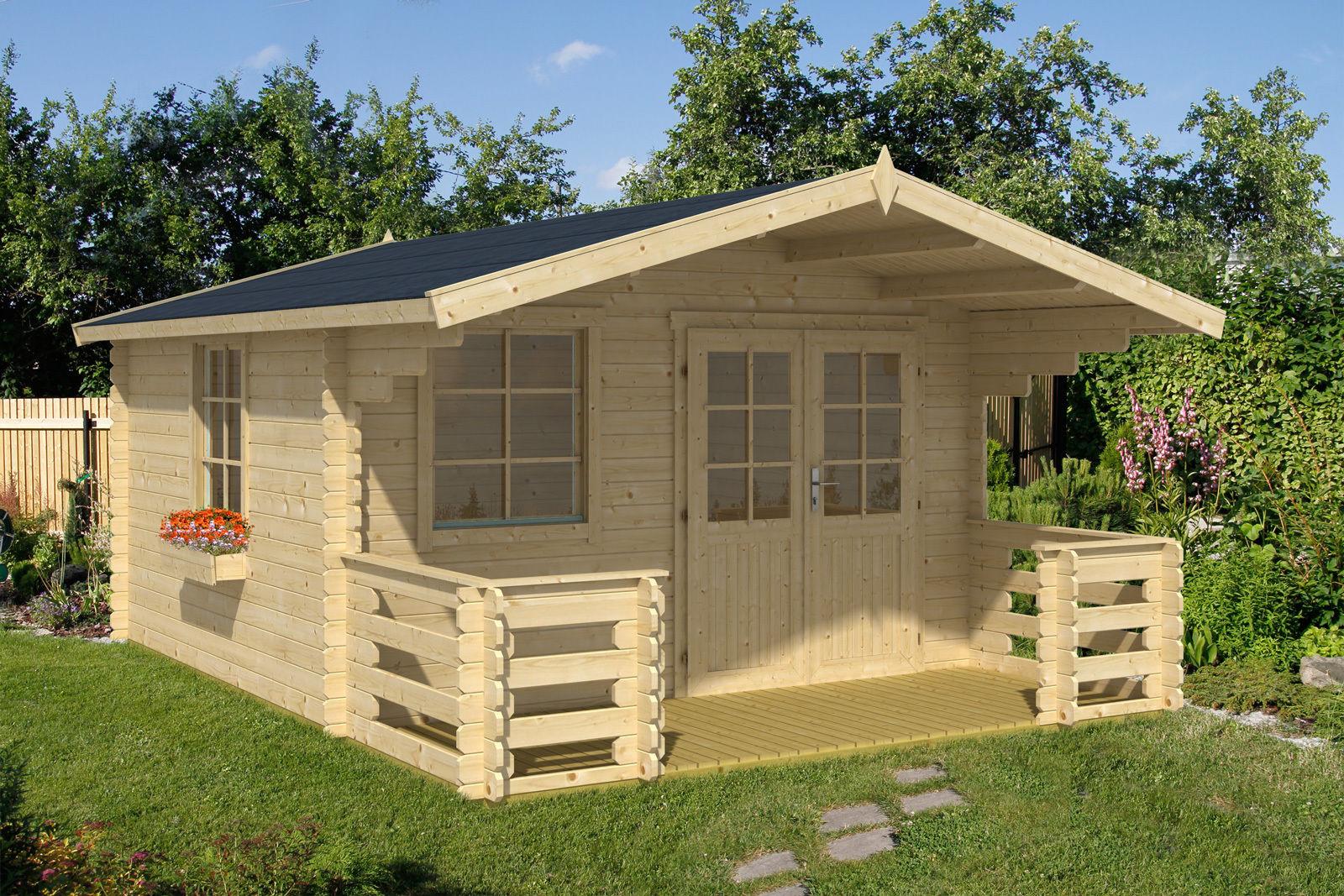 gartenhaus reno 3 28 mm ca 380x380 cm holzwurm obersayn. Black Bedroom Furniture Sets. Home Design Ideas