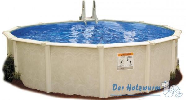 Stahlwand-Pool | Sunlake | Rund Ø 4,6 m | Holzwurm Obersayn