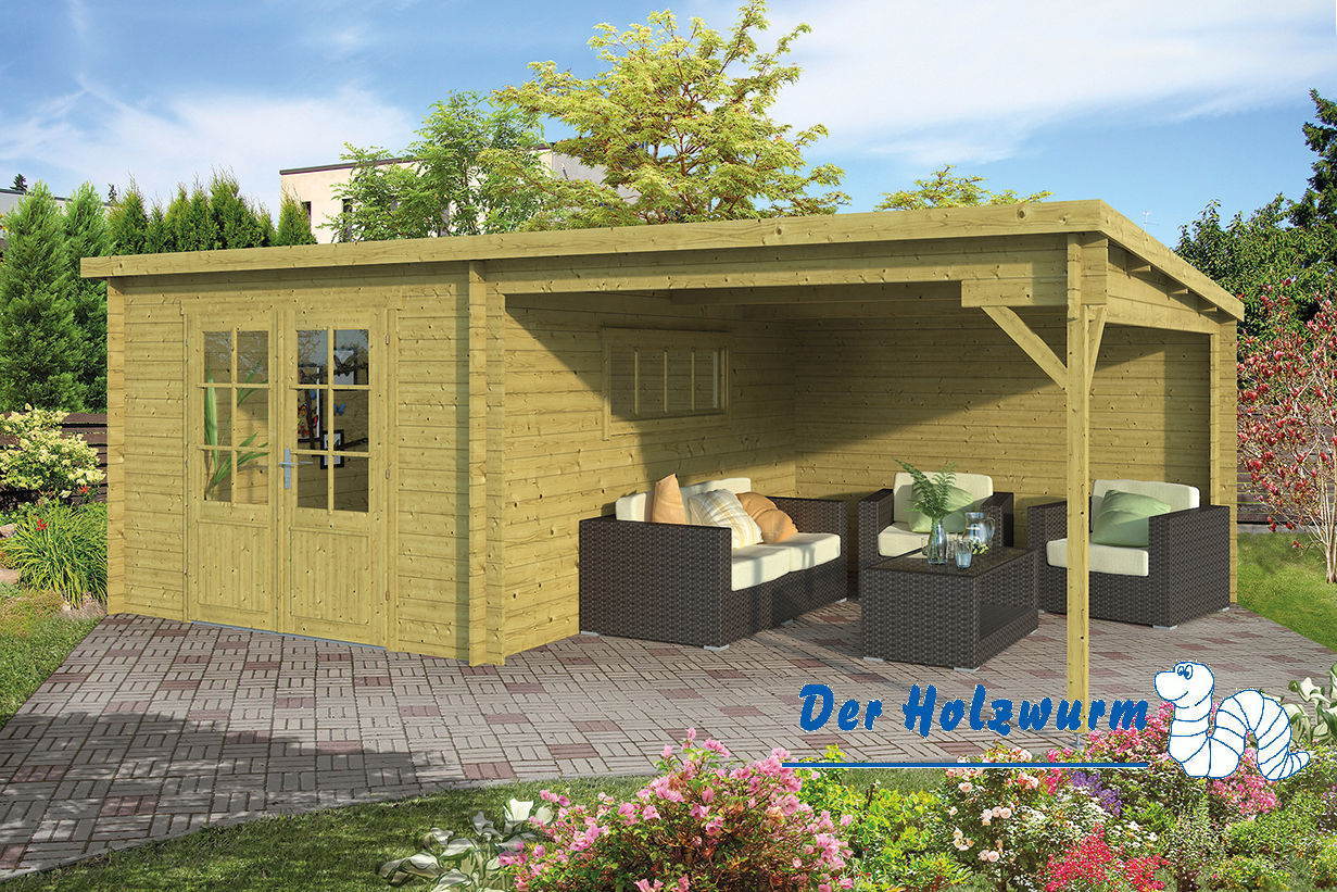 gartenhaus svend 28 mm ca 598x400 cm holzwurm obersayn. Black Bedroom Furniture Sets. Home Design Ideas