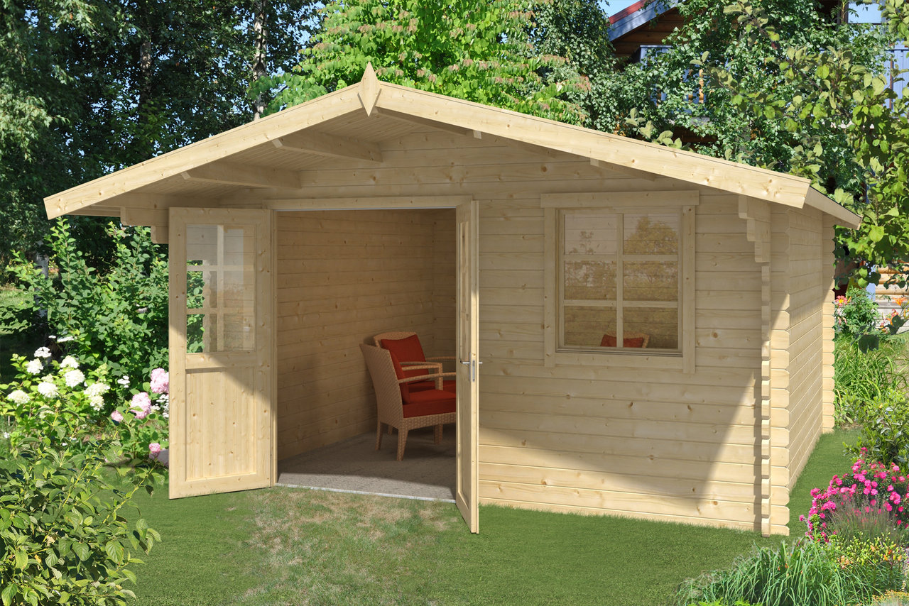 gartenhaus offenburg 2 40 mm ca 410x410 cm holzwurm obersayn. Black Bedroom Furniture Sets. Home Design Ideas