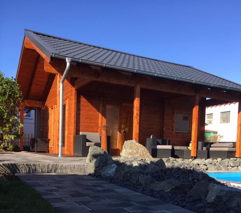 Gartenhaus Dacheindeckung mit Schiefer