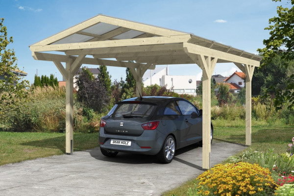 carport westerwald leimholz inklusive pfostenanker holzwurm obersayn. Black Bedroom Furniture Sets. Home Design Ideas