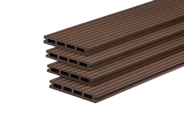 wpc terrassendiele kaffeebraun hohlkammerdiele 150 mm breit holzwurm obersayn. Black Bedroom Furniture Sets. Home Design Ideas