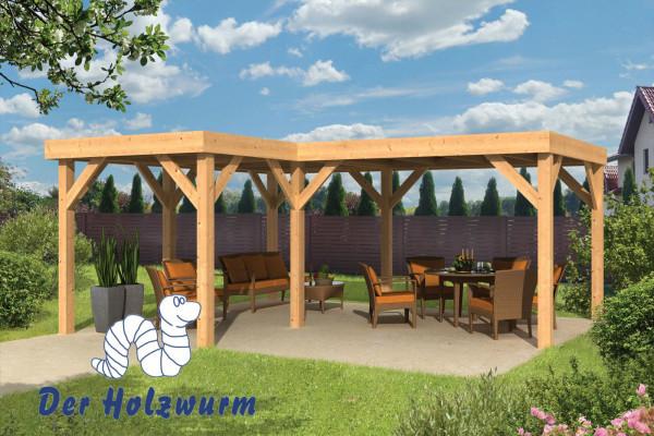 gartenpavillon beerze 150x150 mm ca 620x520 cm holzwurm obersayn. Black Bedroom Furniture Sets. Home Design Ideas