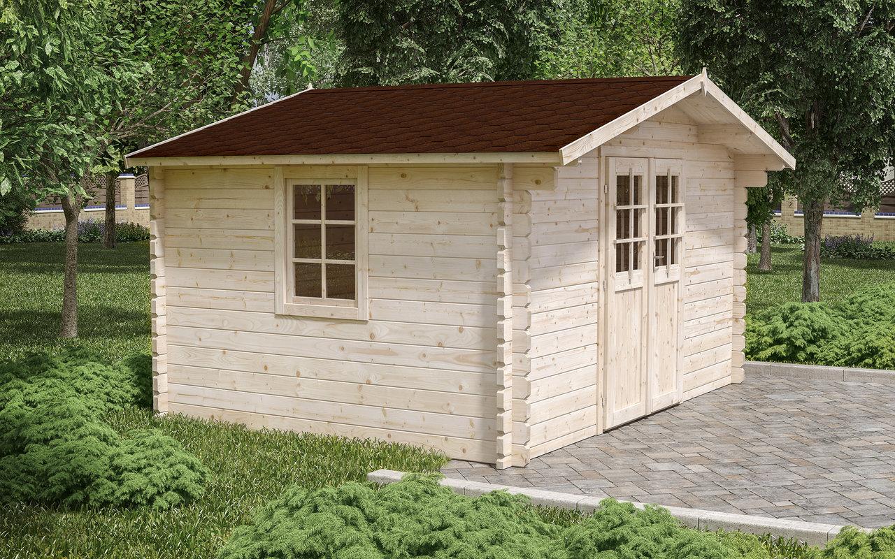 Gartenhaus Donau 3 | 44 mm | ca. 400x300 cm | Holzwurm Obersayn