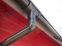 Kunststoffdachrinne für 2-seitige Dachlänge 4,00 mtr. 75mm