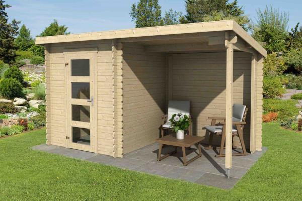 gartenhaus jelle plus 28 mm ca 390x195 cm holzwurm. Black Bedroom Furniture Sets. Home Design Ideas