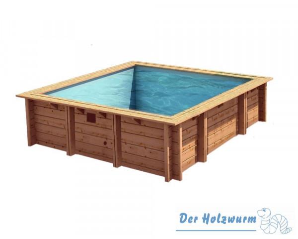 Holzpool bali ca 200x200 cm holzwurm obersayn - Holzpool aufbau ...