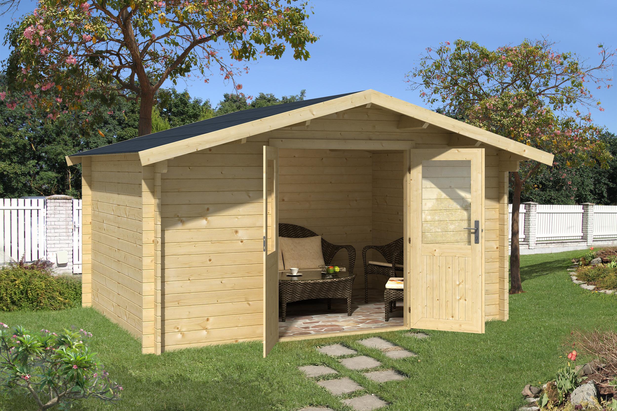 gartenhaus leipzig f 34 mm ca 400x300 cm holzwurm obersayn. Black Bedroom Furniture Sets. Home Design Ideas