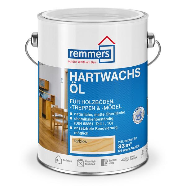 Hartwachsöl 2,5 l farblos für Fußböden