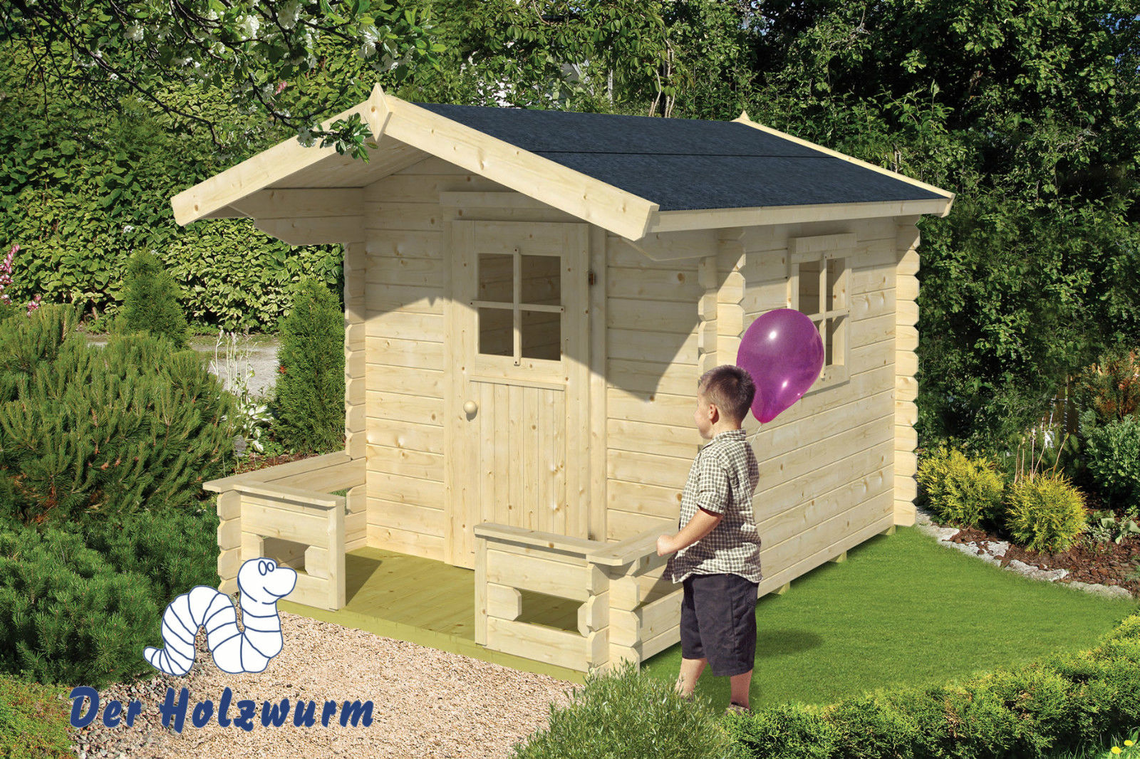 kinderspielhaus finnland 19 mm ca 190x260 cm holzwurm obersayn. Black Bedroom Furniture Sets. Home Design Ideas
